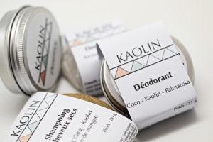 Gamme Kaolin cosmétiques solides naturels